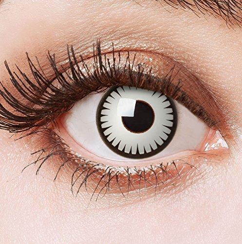 Karneval Klamotten Farblinsen Farbige Kontaktlinsen Jahreslinsen ohne Stärke Halloween Mumie Zombie (Kostüm Zombie Kontakte)