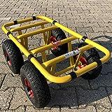 Chariot de transport Ravendo Dolly 4 roues 300 kg TD 300-4W charge lourde Chariot de transport Bandage pneumatique fabriqué en Europe