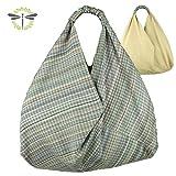 ORIGAMI-TASCHE, Shopper, Einkaufstasche, Schultertasche ... aus Waschleder ... neues Design & super funktional