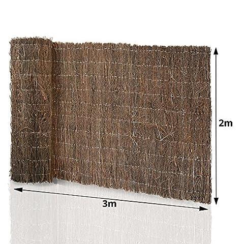 Canisse Bambou 3x1 5m - Brande de bruyère casa pura® brise vue