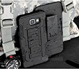 Galaxy A5 2017 Coque, Cocomii Robot Armor NEW [Heavy Duty] Premium Belt Clip Holster Kickstand Shockproof Hard Bumper Shell [Military Defender] Full Body Dual Layer Rugged Cover Case Étui Housse Samsung A520 (Black)