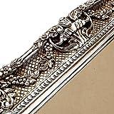 Großer Bilderrahmen Barock 75×85 / 50×60 cm Silber (Antik) Im Retro-Vintage look. In Handarbeit hergestellt. (Foto-Rahmen) Idealer Gemälde-Rahmen für Ausstellungen STAR-LINE® - 4
