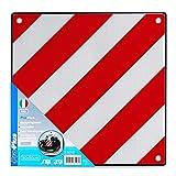 Aluminium Warntafel Italien mit Ösen 50 x 50 cm reflektierend in rot/weiß