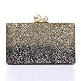 LUCKY-U Clutch Handbag, Women's Clutch Bag Color Matching Dinner Bag Premium Pearl Buckle