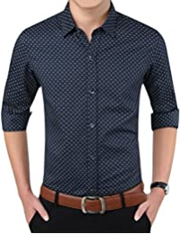 Zicac Chemise Casuel Manches Longues Homme