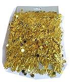 Guirnalda Decorativa de espumillón estrellas oro 5m