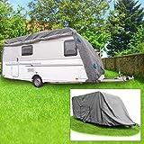 Buri Schutzhülle Wohnwagen Größe L 6,10 x 2,50 x 2,20m Abdeckung Caravan Wetterschutz