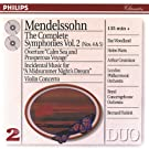 Mendelssohn: The Symphonies Vol.2; Violin Concerto; A Midsummer Night's Dream