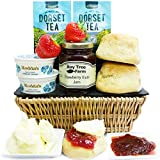 CLASSIC WEST COUNTRY CREAM TEA BASKET - English Cream Tea Hampers with Clotted Cream Scones and Fine Jams by Eden4hampers