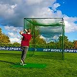 Cage et Filet Autoporteurs de Golf - Practice à Domicile (3m x 3m x 3m) [Net World Sports]...