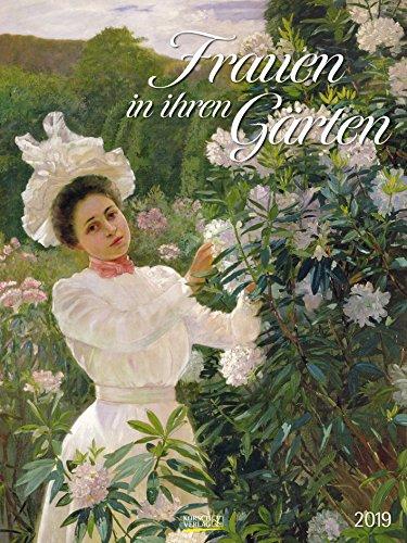 Frauen in ihren Gärten 2019: Großer Kunstkalender. Wandkalender mit Gärtnerinnen im Impressionismus. Format: 48x64 cm