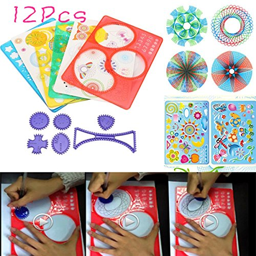 Caveen Original Set di spirografi, design di qualità, per bambini, per progetti artistici, disegnare, educazione scientifica