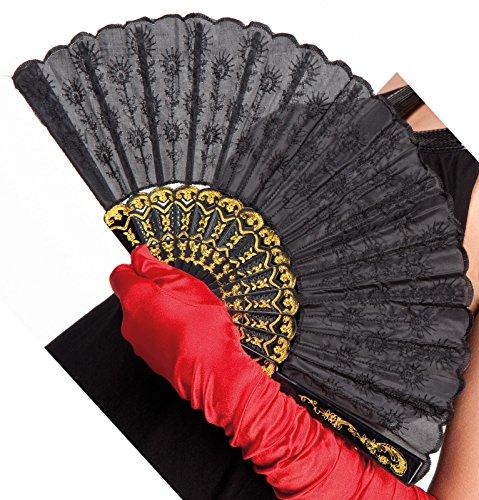 Boland 00509 - Fan española de Granada, 25 cm, Negro/Oro