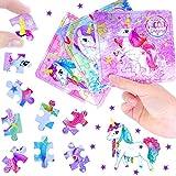 German Trendseller® 24 x rompecabezas unicornio┃puzzle┃los colores del arco iris┃ fiestas infantiles┃ idea de regalo┃piñata┃cumpleaños de niños┃ 24 unidades