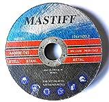10 Stück Inox Trennscheibe für Stahl, Metall, Edelstahl 125 x 1,0 x 22.23 mm T41 A60 RBF Mastiff