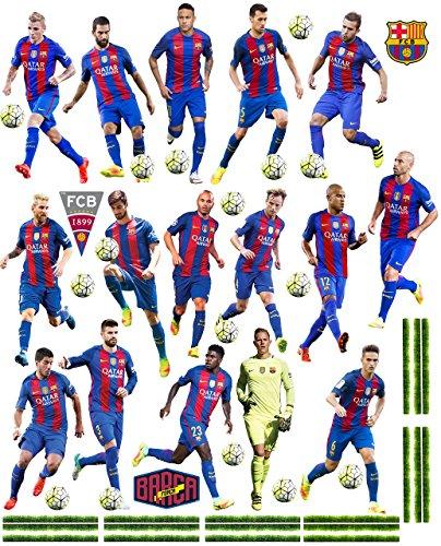 alles-meine.de GmbH 47 TLG. Set _ XL Fensterbilder _  Fußball Mannschaft - FCB - FC Barcelona - Fußballverein  - zum Spielen & als Deko - Sticker Fenstersticker Aufkleber - sel..
