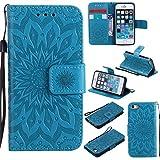 Nancen gaufrage tournesol Apple iPhone 5 / 5S / SE (4 pouces) coque Haute Qualité PU...