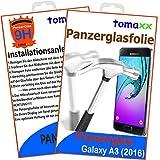 Samsung Galaxy A3 (2016) Glas Glasfolie 9H Panzerglas Panzerglasfolie Schutzfolie