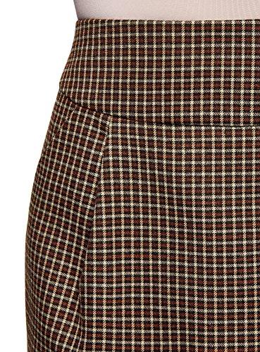 oodji Ultra Damen Kurzer Rock mit Seitentaschen Beige (3339C)