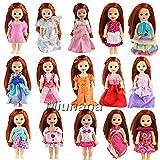 Miunana 6 St Fashionistas Abendkleid Kleidung Kleider Kleid für Barbie Kelly Puppen