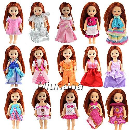 Outfits Für Kinder Barbie (Miunana 6 St Fashionistas Abendkleid Kleidung Kleider Kleid für Barbie Kelly)