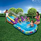 Banzai Kid Toddler Outdoor Inflatable My First Water Slide and Splash Pool
