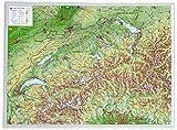 Schweiz 1:1.0MIO: Reliefkarte Schweiz klein Din A3 (Tiefgezogenes Kunststoffrelief)