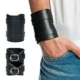 Stylez-Connection Lederarmband schwarz EXTRA BREIT Herren Leder Armband - 5