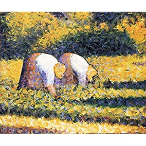 Das Museum AUSLASS Landwirte Bei Der Arbeit Von Seurat Poster (24 X 18