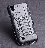 Cocomii Robot Armor LG X Power Hülle [Strapazierfähig] Erstklassig Gürtelclip Ständer Stoßfest Gehäuse [Militärisch Verteidiger] Ganzkörper Solide Case Schutzhülle for LG X Power (R.Black)