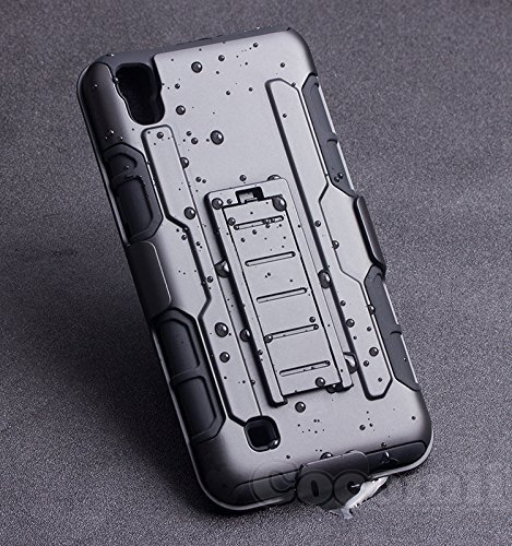 LG X Power Hülle, Cocomii Robot Armor NEW [Heavy Duty] Premium Belt Clip Holster Kickstand Shockproof Hard Bumper Shell [Military Defender] Full Body Dual Layer Rugged Cover Case Schutzhülle (Black) (Iphone 6 Für 4 Dollar)