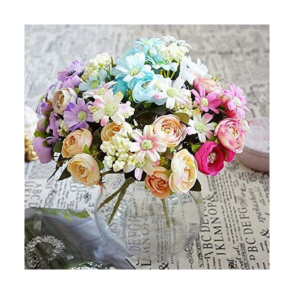 XdiseD9Xsmao 1 Unid Color Vivo Flor Falsa Flor Artificial Camelia Crisantemo Jardín DIY Fiesta Home Wedding Christmas…