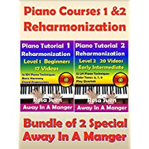 Piano Courses 1 & 2 - Reharmonization Piano Tutorials - Bundle of 2 Special for Beginners & Intermediate: Learn Piano (Piano Lessons) (English Edition)