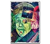Poster --- Albert Einstein's Trip --- Büro Physik Wissenschaft Forschung