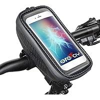 Grefay Bicycle Handlebar Bag Waterproof Mobile Phone Case Hard Shell Bicycle Mobile Phone Holder Handlebar Bag with…