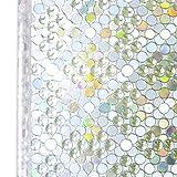 Homein Fensterfolie Selbsthaftend Fenster Sichtschutzfolie Bunt Glasfolie Fensterfolien Blickdicht Window Film Folie Sichtschutz Selbstklebend Glastür ohne Kleber mit Motiv 3D Perlen 44.5 x 200 cm