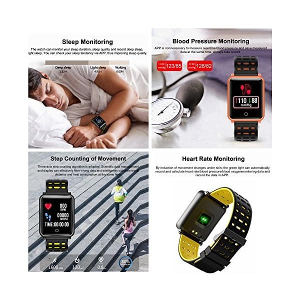 CanMixs Pulsera de Actividad Smartwatch, CM11 Impermeable IP68 Pulsera Inteligente con Podómetro, Monitor de Ritmo… 4