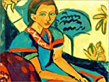 Posterlounge Alu Dibond 120 x 90 cm: Fränzi von Ernst Ludwig Kirchner/akg-Images