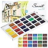 Aquarellfarbe set Hochwertig- Zur Auswahl: 16 oder 24 Farben - Qualität von Sonnet