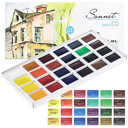 Aquarellfarbe 16 oder 24 Farben - Qualität von Sonnet