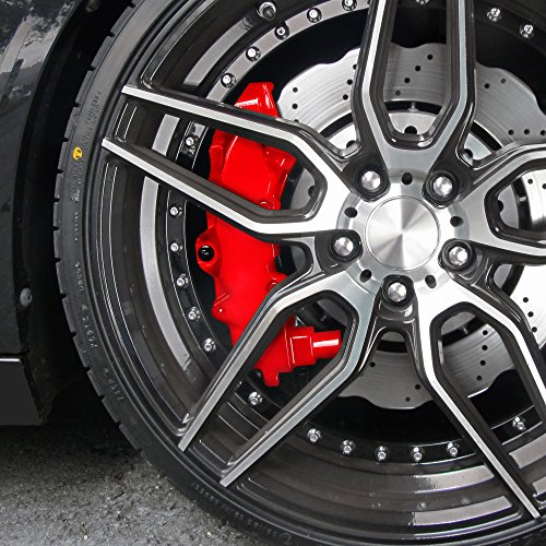 Preisvergleich Produktbild JOM Car Parts & Car Hifi GmbH JOM 200000 Bremssattellack, Bremssattel Lackier- Set, rot, 1K-System, Bremssattellack 75ml, Bremsenreiniger 250ml, Pinsel und Handschuhe