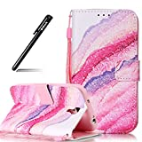 BtDuck Hülle für Samsung Galaxy S4,Case für Samsung Galaxy S4, Rosa Hülle Handyhülle PU Leder Tasche Case Brieftasche Etui Hülle Schutzhülle Galaxy S4 Silikon Stand Lederhülle Lederhülle Wallet Case