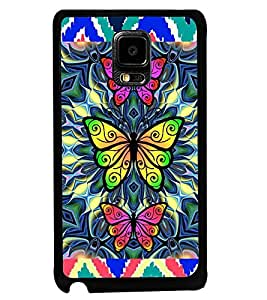Printvisa Tripple Butterfly Pattern Back Case Cover for Samsung Galaxy Note Edge::Samsung Galaxy Note Edge N915
