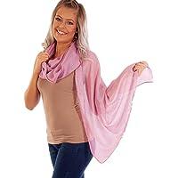 DOLCE ABBRACCIO by RiemTEX ® Schal Damen PRIMA DONNA Stola Tuch aus Wildseide Tücher in 31 Unifarben Halstücher…