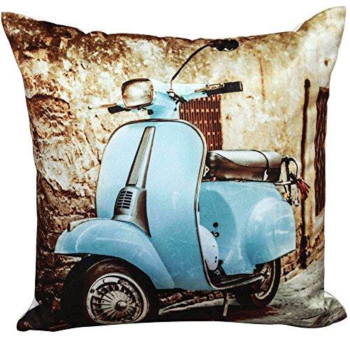 vespa-scooter-blue-square-cushion-cover-photographic-retro-vintage-43-x-43-new