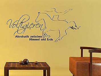 Graz Design 660167_57_070 Wandtattoo Deko Fr Jugendzimmer Wand Aufkleber  Sticker Sport Fitness Voltigieren Akrobatik Mit Pferd