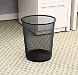 HOMIZE™ Mesh Dustbin, Recycle Bin, Waste Bin, Large, Black