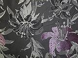 Große florale Gewebe der Brokat Kleid Pink &