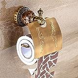 Im europäischen Stil schwarze Jade Uralten Kupfer farbige Gravur Von der Accessoires Badezimmer Dry-Towels Toilettenpapier, Suspension Einbau-lautstärkesteller Rack
