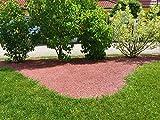 Gardenjo Weltneuheit - UNKRAUTFREIE Pflanzeneinfassung oder Mähkante - Rotbraun